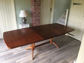 Gordon Russell 1950s Mahogany and Rosewood Dining Table