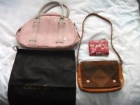 VINTAGE CLASSIC BAGS AND A PURSE