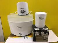 Tommee tippee electric steriliser warmer baby bottle bundle