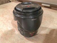 Panasonic Lumix G Vario 14-140mm Image Stabilised Lens and Hood