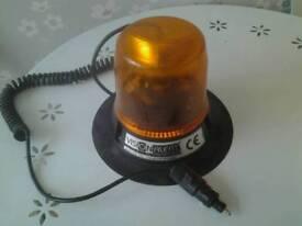 Vision alert amber rotating beacon 12v car or van