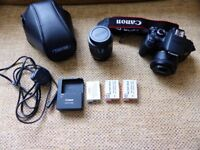 Canon DSLR 650D with accessories