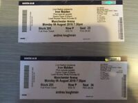 2 x iron maiden tickets manchester arena monday 06 August 2018 due to unfortunate events cant attend