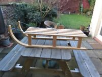 Wooden sledge, good condition
