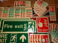 Various Photoluminescent Glow In The Dark Signs Fire Exit Fire Alarm Extinguishers