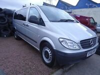 1 OWNER 06 PLATE MERCEDES VITO W639 TRAVELINER 9 SEATER XLWB MINIBUS LUXURY TRAVEL REAR AIR CON