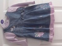 Beautiful girl's NEXT dress, age 6-9 months.