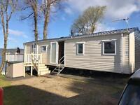 STATIC CARAVAN FOR SALE WITH STUNNING SEA VIEW & DECKING NEAR LARGS , GLASGOW, GREENOCK, PAISLEY