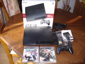 SONY PS3 160GB WITH EXTRAS - FACTORY RESET - IN EXCELLENT CONDITION