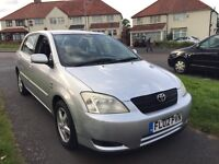 Toyota Corolla T3 1.4 vvti 02 Petrol/Gas Full Mot Recently Serviced LPG Conversion Hpi Clear Cheap!