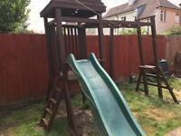 Children's Wooden Climbing Frame Swing set Monkey Bars