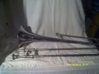 TROMBONE In SILVER PLATE by BESSON , ENGLAND , The WESTMINSTER In V.G.C. M/P & CASE +++