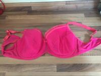 Bra, 46D pink with trim, sassy new