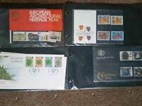 REDUCED British stamp collection book including 49 different stamps