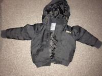 Boys black coat from Next