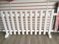 White Freestanding Picket Fence