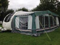 Full size Dorema awning 1020cm green
