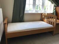 Toddler bed with new mattress