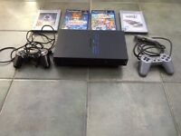 PS2 bundle, including controllers, games, dance mat, microphones , steering wheel and pedals