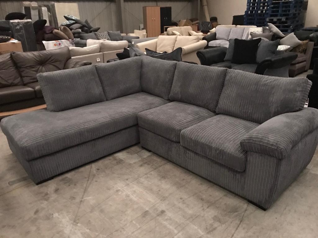 Brand new grey chorded corner chaise sofa
