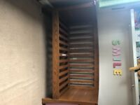Mammas & Pappas Solid Oak Cot Bed & Changing Table with Drawers