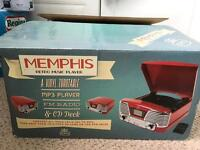 Memphis record player new and boxed