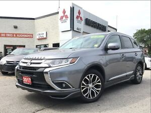 2017 Mitsubishi Outlander GT S-AWC (18 ALLOYS! BACKUP CAM! SUNRO
