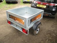 AS NEW (2018) ERDE 102 CLASSIC TILTBED / DROPTAIL GOODS TRAILER...........