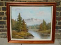 FREE DELIVERY W Chapman Painting Of Natural Landscape