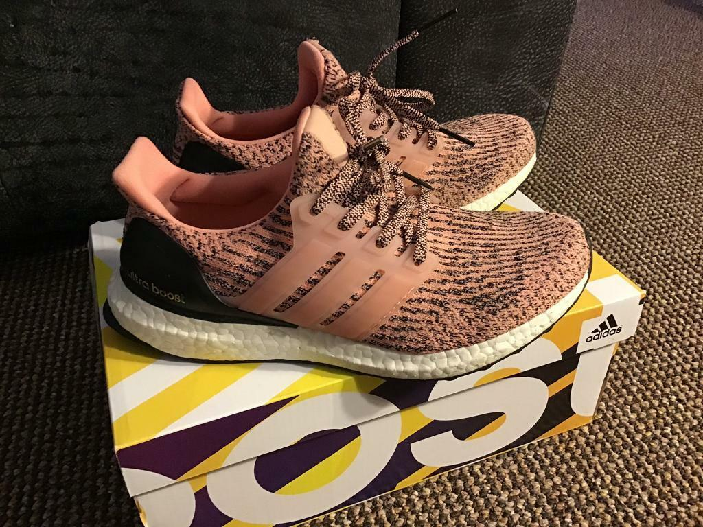 ab7f596624a Adidas Ultraboost Ultra Boost running shoes trainers sneaker UK 5 EU 38 pink