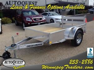 2016 Stronghaul 5 X 8 Solid Side Aluminum Utility Trailer