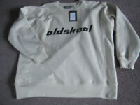 OLDSKOOL sweatshirt , Cotton blend, size 3 Med/Large