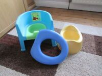 childs potty chair plus normal potty and toilet seat
