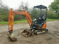 Hitachi Zaxis 17U Excavator 1.7 Ton Digger 14 c/w Buckets