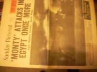 2 old newspapers, dont know if genuine or copies. Sunday Pictorial 1942-News of the World 1870.