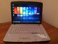"ACER 5310 LAPTOP 15.4"", 1.86GHz DUAL CORE, 2GB, 80GB, WIFI, NEW BATTERY, DVD+RW, OFFICE, ANTIVIRUS"