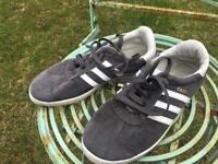 ADIDAS GAZELLE GREY TRAINERS