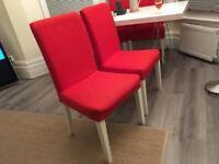 4 X Ikea Henriksdal dining chairs - free local delivery!