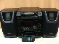 Panasonic hifi 5-disc CD tape radio remote possible delivery