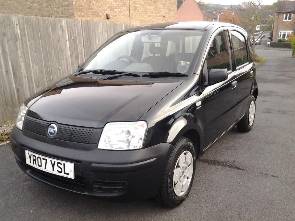 2007 Fiat Panda 1.1 Active 5 Door Black ONLY 47,000 MILES With Full Mot