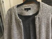 Grey knitted jacket women's size 10