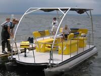 "Solar Electric Powered Pontoon Boat - 20-Foot, 10-Pax ""Loon"""