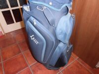 A Lynx Golf CART BAG in two toned blue ,