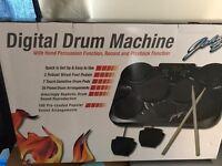 Electronic digital drum machine in box