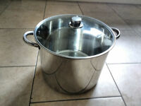 Stock Pot, Stainless Steel, Large - 19 ltr