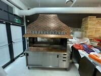 Large bronzed effect commercial grill