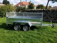 MESH SIDES 4 CAGE TRAILER 8,7 X 4,2 NEW TIPPER 750KG