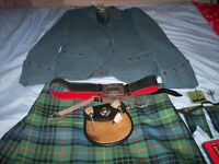 All wool mens kilt and assessories