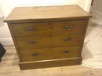 Old Victorian chest of drawers