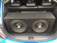 Jl audio 2 x 12 inch subs with 1500 watt amp,£150 no offers